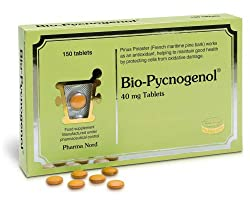 Pycnogenol is derived from maritime pine bark extract, which contains over 40 bio-flavonoids Pycnogenol is a potent antioxidant, with an antioxidant activity approximately fifty times that of vitamin C Decrease the permeability and fragility of capil...