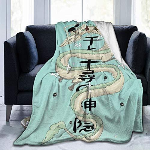 Spirited Away - Manta de microfibra ultrasuave para cama y sofá en todas las estaciones, 80 x 60 pulgadas