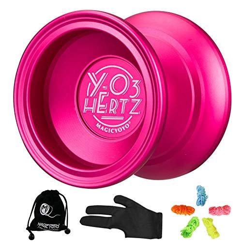YOSTAR MAGICYOYO Y03 HERTZ Yoyo profesional Yoyo no responsive para trucos de cuerda, rodamientos de bolas, Yoyo, excelente rendimiento, giro de alta velocidad y ligero, con 5 cuerdas, guante, bolsa