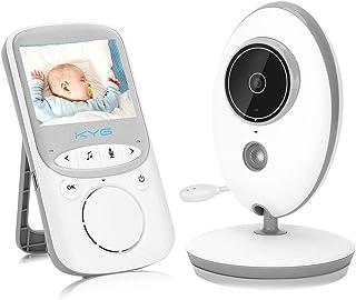 KYG Moniteur Bébé Babyphone Vision Nocturne Caméra Vidéo Bébé avec 2.4 GHz Bidirectionnel Température Surveillée VOX Berce...
