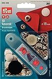 Prym 390306-Botón de presión para Anorak, Color Blanco, Metal, 15 mm