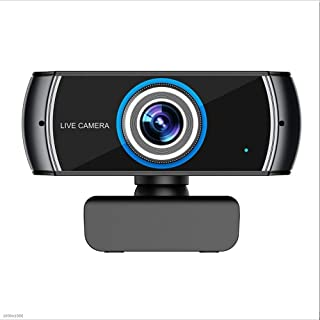 YIJ-YIJ Webcam with Microphone, Home 1080P HD USB Video Webcam, LCD Screen Live Webcam, Built-in Microphone, Laptop Comput...