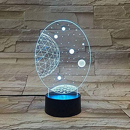 Angemessener Preis Galaxy Solar System 3D-Licht, bunte Kinder Nachtlicht für die Dekoration LED Nachtlicht mit Fernbedienung
