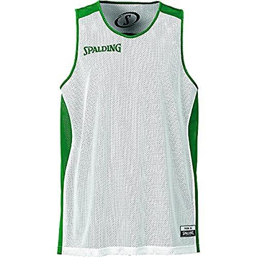 Spalding Teamtrikots & Sets Essential Reversible Shirt Herren Trikot, Grün/Weiß, S