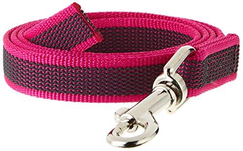 Julius-K9, 216GM-PN-1 Color & Gray Gumierte Leine Pink-Grau 20mm*1 m ohne Schlaufe, max. für 50 kg Hunde