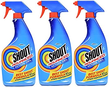 3-Pack Shout Advanced Spray And Wash Laundry Stain Remover Gel 22oz