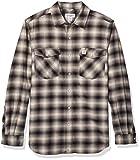 Carhartt Men's Rugged Flex Hamilton Snap Front Plaid Flannel Shirt (Regular and Big & Tall Sizes), Shadow, X-Large/Tall