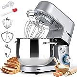 Kuccu Stand Mixer, 8.5 Qt 660W, 6-Speed Tilt-Head Food Dough Mixer, Electric Kitchen Mixer with...