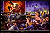 George Bungarda – Hollywood Drive-In Poster Drucken
