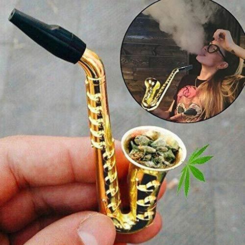 Feriay Creative Small Sax-shape Metal Mini Sacks Pipe