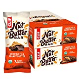 CLIF Nut Butter Bar - Organic Snack Bars - Chocolate Peanut Butter - (1.76 Ounce Protein Snack Bars, 24 Count)
