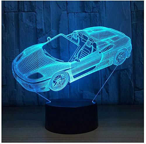 3D illusie Night Light Bluetooth Smart Control 7 en 16M Mobile app gekleurde LED Vision puzzel paard decoratie huis Iering verbazingwekkend bont optisch creatief cadeau