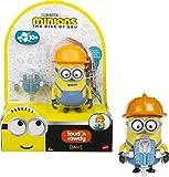 Minions GMF03 - ,,Minions: Auf der Suche nach dem Mini-Boss' Loud N' Rowdy Dave, sprechende Actionfigur mit Presslufthammer, Filmfigur-Spielzeug, für Kinder ab 4 Jahren