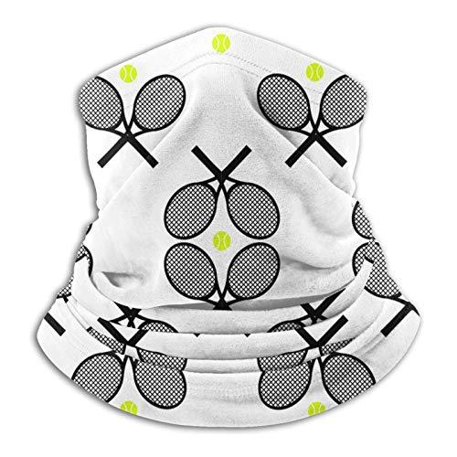 Neck Warmer Raqueta De Tenis Negra para Deportes Envoltura para La Cabeza Protección Solar Festivales Sombreros Ciclismo De Invierno Hombres Calentador De Cuello Polaina Ciclismo