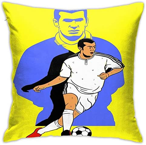 Tazai Throw Pillow Covers Zinedine Zidane Pillow Cases Decorative 18x18 Inch Pillowcase Square product image