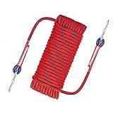 Cuerda de Seguridad para Exteriores, Cuerda de Seguridad para Escalada, Cuerda al Aire Libre Cuerda Trenzada, para Senderismo, Espeleología, Camping, Rescate, Escalada(Size:65.6ft)