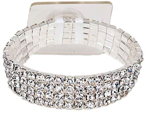 Fitz Design Corsage Bracelet - Rock Candy Dazzle Lawn Garden, White
