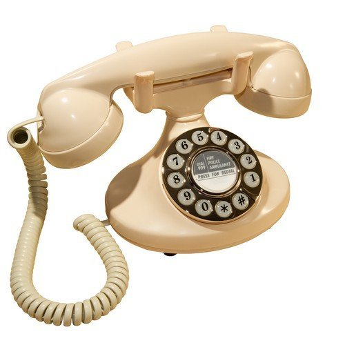 GPO Pearl Push Button Classic Retro Corded Telephone - Ivory