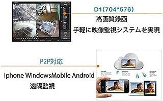 DVR4CH 録画装置 P2P対応 インターネット監視対応 スマホ簡単設置 H.264 防犯録画 防犯カメラ4台まで接続可能 同時録画OK H.264デジタルレコーダー YN2-DVR4CH