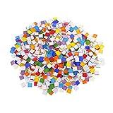 N/H Azulejos de mosaico de cristal, 450 piezas de mosaico de cristal de colores mezclados para manualidades, decoración de paredes, macetas de flores