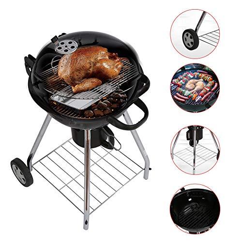 YXYLD Mini BBQ Grill, Met Deksel En Verwijderbare Winkelwagen Carbon Oven Wilde Gereedschap Voor Outdoor Meer dan 5 Personen Houtskool Barbecue Picnic Camping Mini Barbecue Grill