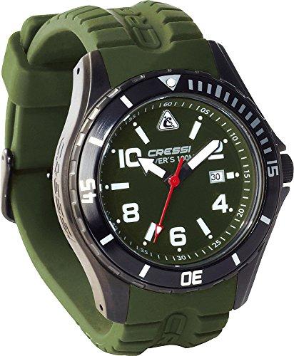 Cressi Manta Lux Orologio Subacqueo Resistente 100 m, Verde