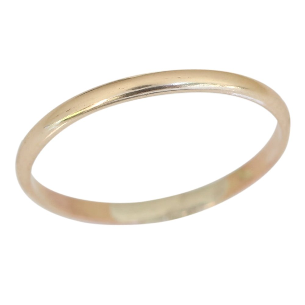 Gold Toe Ring Popularity 14k Filled Two Ranking TOP7 Plain Double Fit Bands Wedding