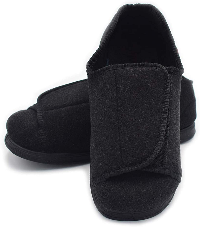 Mei MACLEOD Extra Wide Width Arthritis Edema Comfortable Diabetic Round Toe Memory Foam Swollen feet shoes