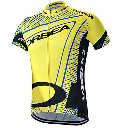 ORBEA Pro Cycling Jersey Short Sleeve Yellow Bike Top Quick Dry Men Summer Bicycle Clothes