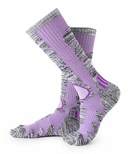 Skiing Socks Women 1 Pack Ladies Warm Ski Socks Purple M