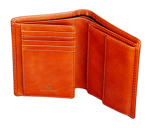Cronus & Rhea®   Luxe portemonnee met muntvak van exclusief leer (Charon)   Portemonnee - portemonnee - geldklem   echt leder   Met elegante geschenkdoos   heren