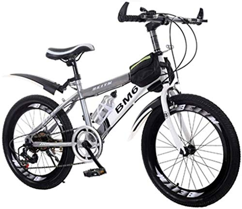 Mountainbikes Kinderstudenten Fahrrad Sommer Fahrrad geeignet im Freien Fahrradberg Cross Country Sehr cool Fahrrad Geeignet for Junge Mädchen von 3 bis 15 Jahren (Farbe: Grau, Größe: 18inches) ggsm