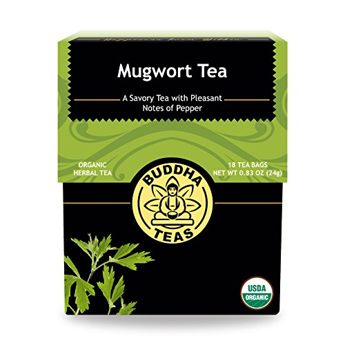 Organic Mugwort Tea, 18 Bleach-Free Tea Bags – Organic Tea Improves Digestion, and Acts as an Emotional Relaxant, No GMOs