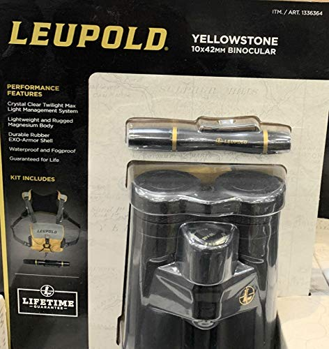 Leupold Yellowstone Fernglas, 10 x 42 mm, Schwarz