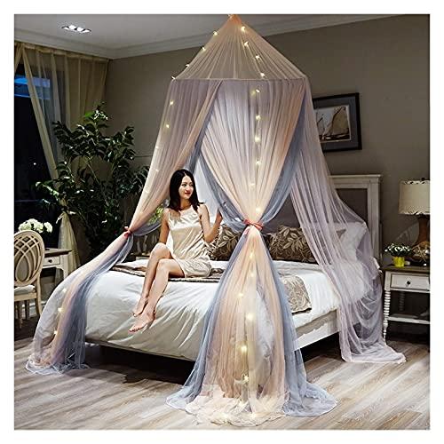 SHENGWEI New Europe-Style Double Circular Mosquito Net para el Dosel de la Cama, Tienda de la Red de la Cama de la Cama de la cúpula Grande para la Cama Doble/Cama Individual