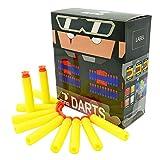 EKIND 100Pcs Suction Darts Refill Foam Bullet Compatible for Nerf Elite Guns (Yellow)
