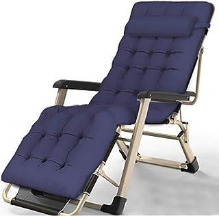 CVMFE Außen einfaches Klappbett, stilvolles Portable Strand Bett, Büro Sessel, tragbares Klappeinzelbett,