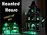 brickled USB Powered LED Light Kit with Flashing lamp Post for Lego 10228 Haunted House