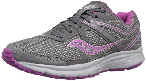 Saucony Women's Cohesion TR11 Running Shoe, Grey/Purple, 5 Medium US