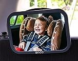 ONCO Espejo Coche Bebe Asiento Trasero - Espejo Bebe 100% a prueba de rotura - Conduce con seguridad y supervisa a tu hijo con el espejo retrovisor bebe coche - Ganador del premio 'MadeForMums'