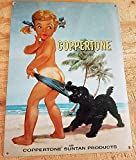 Celina-Metal Tin Sign Coppertone Girl on Beach Personalized Modern bar Cafe Home Wall Art Decoration 8 inch X 12 inch(20cmX30cm)