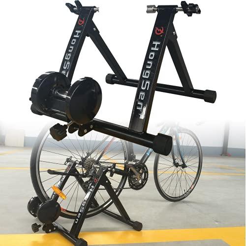 Bicicleta estática plegable para interior y exterior, para llantas de 24 a 27 pulgadas, con cierre rápido