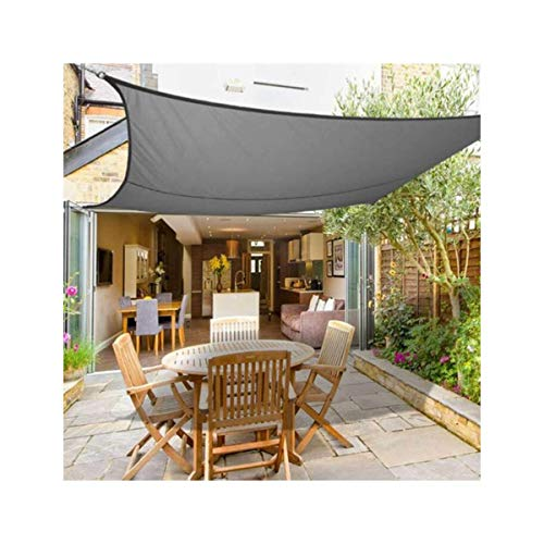 HHJJ Sonnensegel Rechteck Grau Wasserdichter Sonnensegel Baldachin für Terrassen Quadratische UV-Block Markise Dickes, abriebfestes Sonnensegel,2.5x3m(8x10ft)
