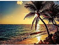 HMTTKPROクロスステッチ刺繡キット-沿岸の風景-印刷済み刺繡キット刺繡画像刺繡11CT40X50CMDIY印刷済みキャンバス家の装飾