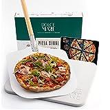 DOLCE MARE Pizzastein Inkl. Aluminium-Pizzaschieber - Pizza Stein aus hochwertigem...