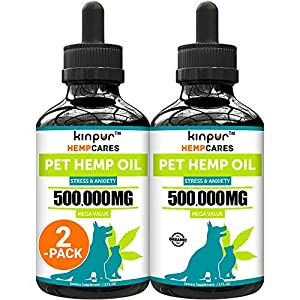 Hemp Oil for Dogs & Cats - 60 000mg - Anxiety Relief for Dogs & Cats - Pet Hemp Oil - Supports Hip & Joint Health - Grown & Made in USA - Natural Relief for Pain - Omega 3, 6 & 9