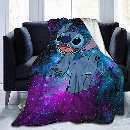 KINGAM _Lilo &_Stitch_Manta de franela 3D impresa suave manta cálida cálida, cálida, hogar, cama, sofá manta Lilo y Stitch 11