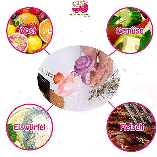 Endureal Fruchtsauger 3 Fruchtsauger für Baby & Kleinkind Baby Fruchtsauger Schnuller 9 Silikon-Sauger in 3 Größen Schätzchen Schnuller Gemüse sauger für Schätzchen - 7
