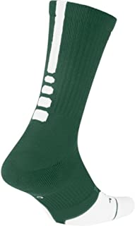 Elite Crew 1.5 Team Basketball Socks X-Large (Men Size 12-15) Green, White SX7035-341