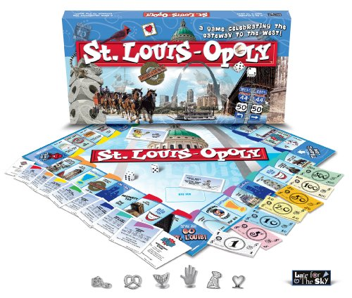 Late for the Sky STL St. Louis-opoly Brettspiel